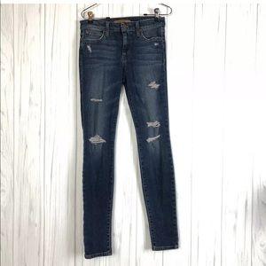 Joe's Jeans Blue Distressed Skinny Straight